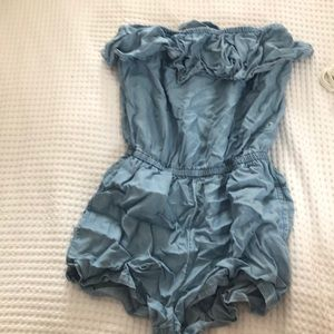 chambray romper, never worn, size small from Aerie